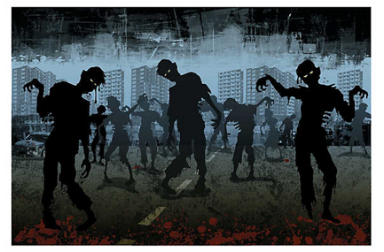 Zombies take over backdrop