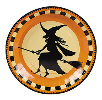 Halloween silhouette dinner plate