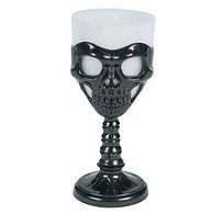 Black skull glass