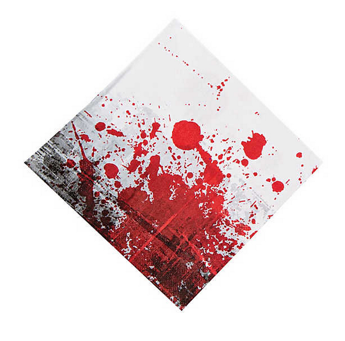Zombie party dinner napkins