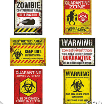 Zombie sign wall cutouts