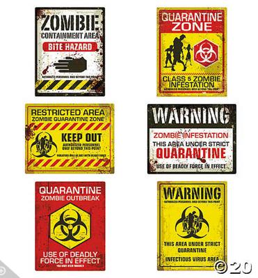 Zombie sign wall cutouts