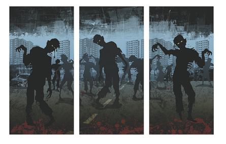 Zombie takeover backdrop