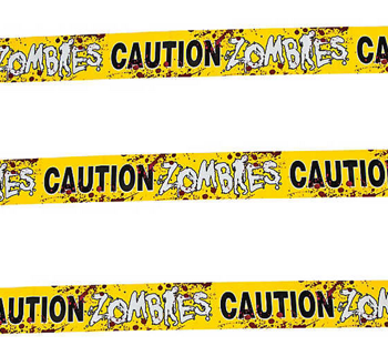 Zombie caution tape