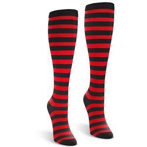 Black & red stripe socks