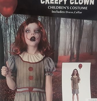 Creepy clown costume - girl