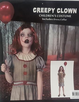 Creepy clown costume - girl