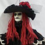Creepy lady prop close up