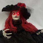 Creepy lady prop light up