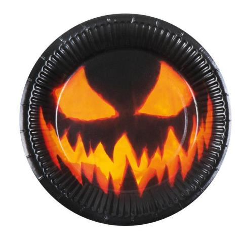 Creepy pumpkin plates