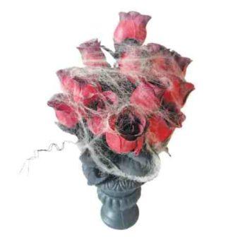 Creepy vase of flowers
