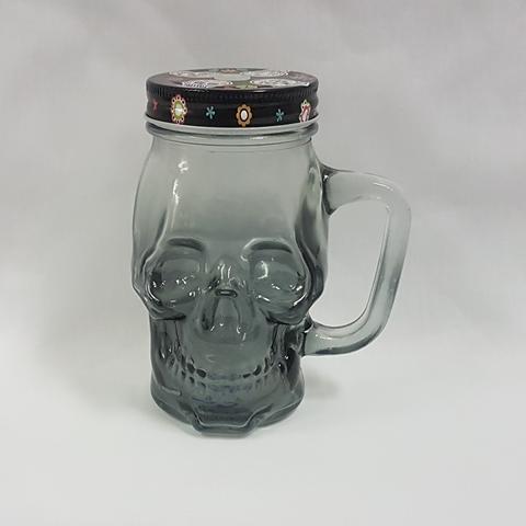 Day of the Dead skull mason jar