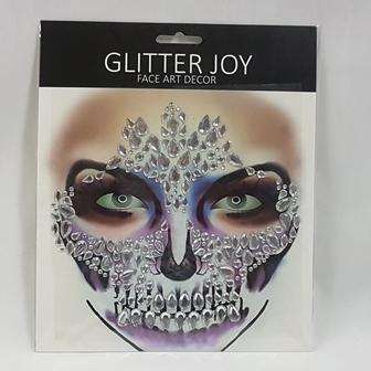Face art skull design