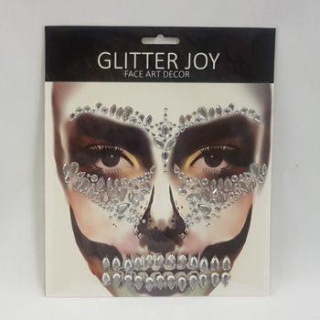 Face rt - silver gems