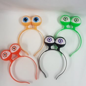 Flashing eyeball headbands