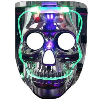 Flashing skull mask