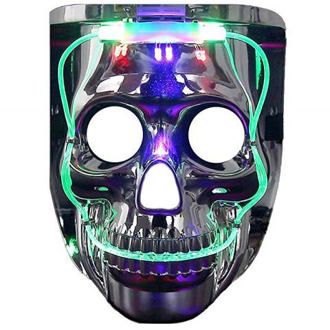 Flashing skull mask