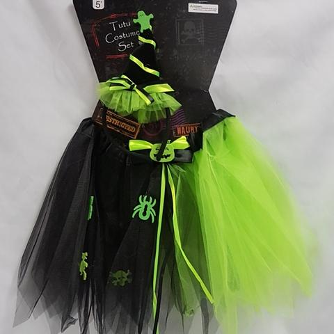 Green & black witch tutu set