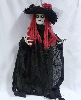 Hanging creepy lady prop