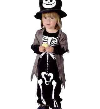 Infant size skeleton suit