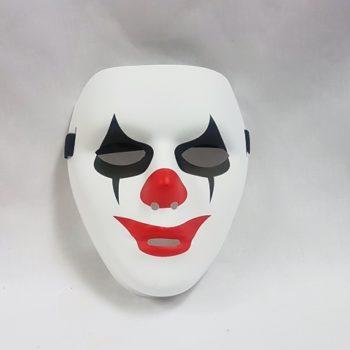 Plastic clown mask