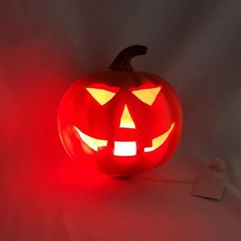 Pumpkin with red light