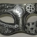 Steampunk mask silver