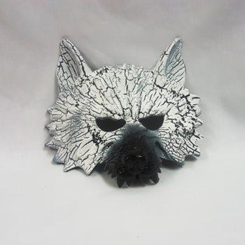 White wolf mask
