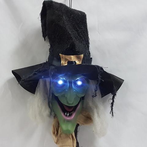 Witch door greeter with lights