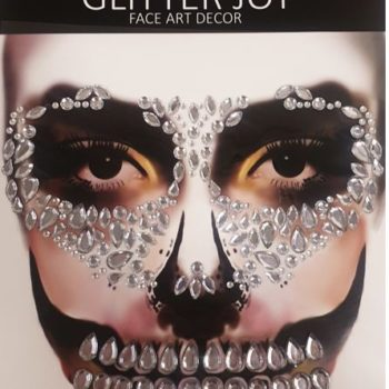 Face art decor silver skull