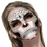 Face art decor diamante's & pearls