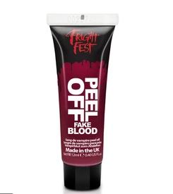 Peel off fake blood