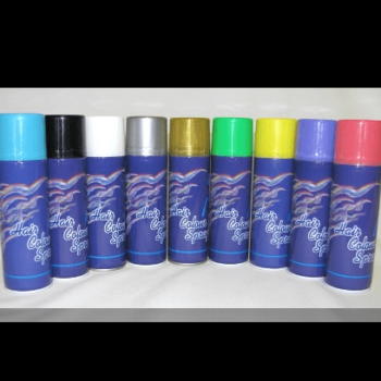Hairsprays assorted colours