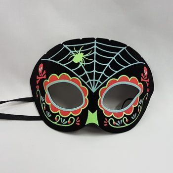 Day of the Dead half face mask
