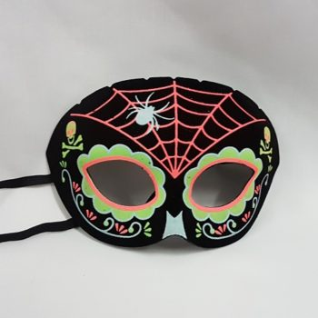 Day of the Dead mask with spider design