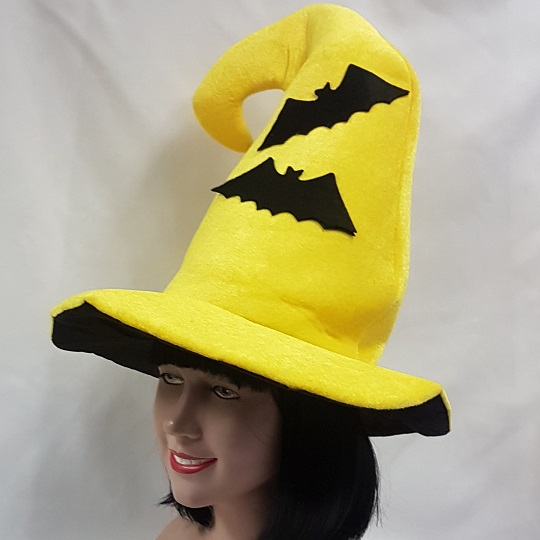 Witch hat with bat design