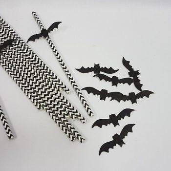 Black & white paper straws
