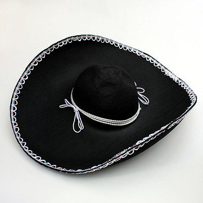 Black Mexican sombrero