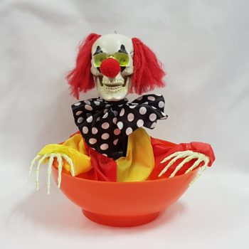 Animated clown candy bowl