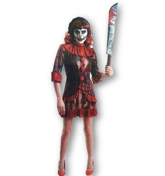 Creepy clown lady