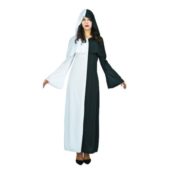 Half white & half black robe