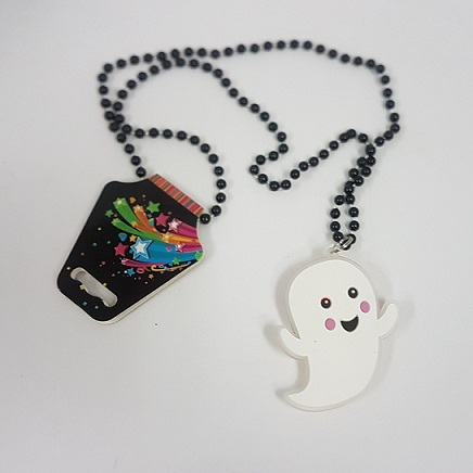 Light up necklace ghost