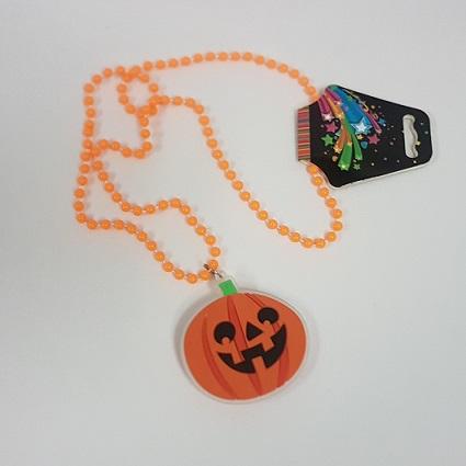 LIght up necklace pumpkin