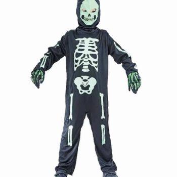 Skeleton suit with green bones