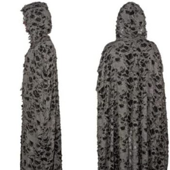 Tattered cape with hood
