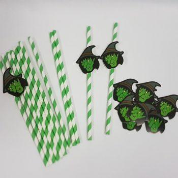 Witch paper straws