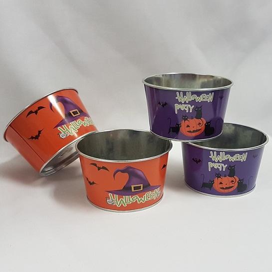 Halloween treat tins