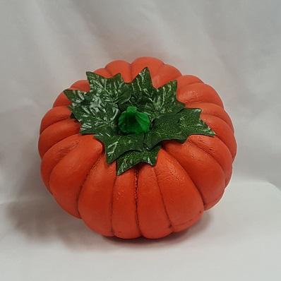 POlystyrene painted pumpkin