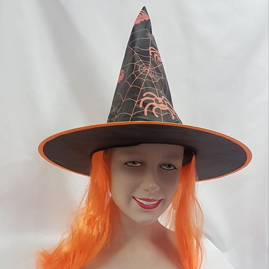 Witch hat with hair orange