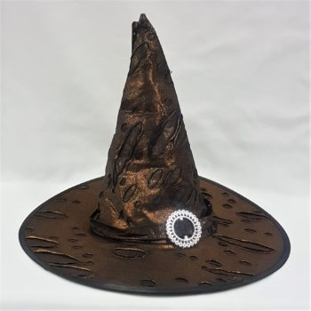 Brown tattered witch hat